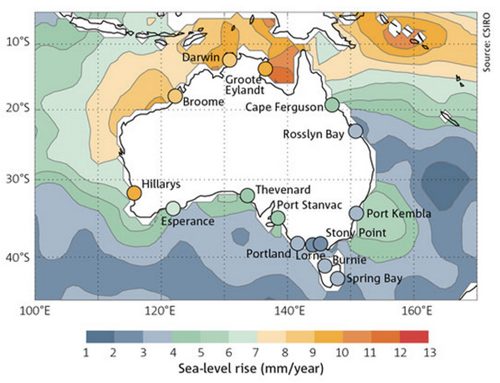 CSIRO Sea-level GIS