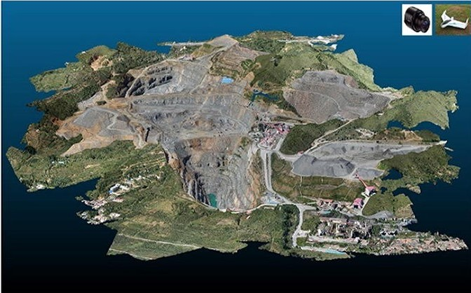 3D-view of point cloud by digital camera