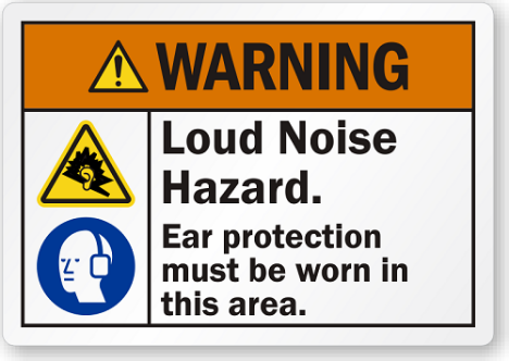 Warning Sign - Loud Noise Hazard