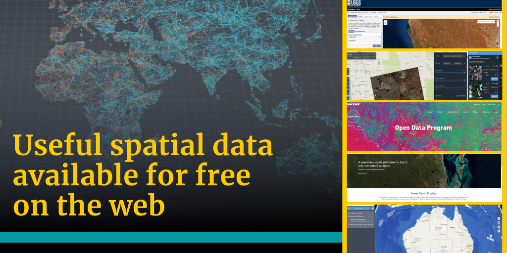 Useful spatial data available for free on the web